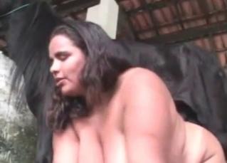 Sexy pony likes nasty bestiality sex